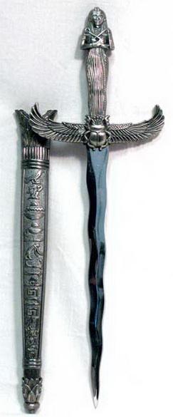 Silver Egyptian athame