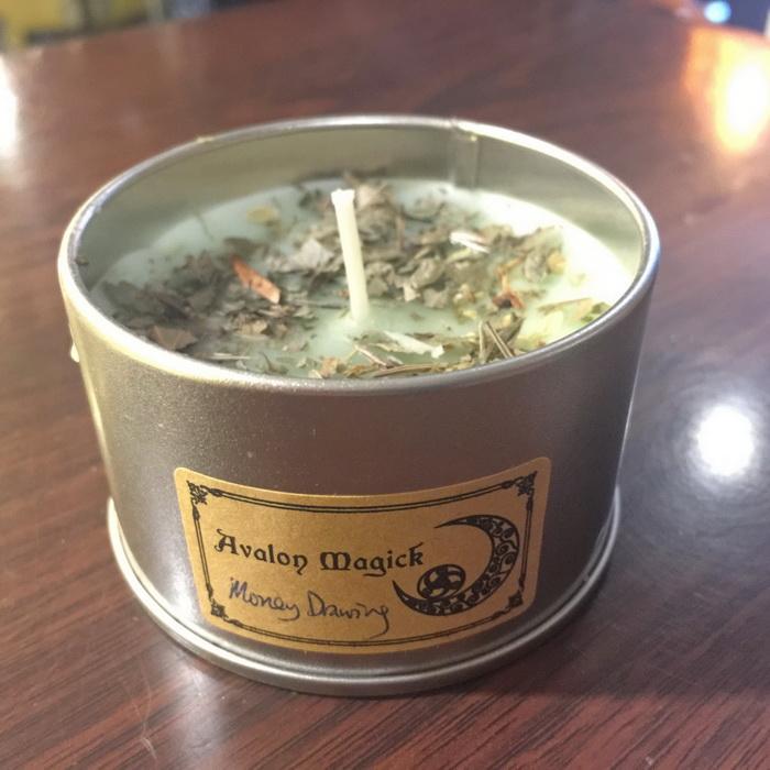 Avalon Magickal Tin Candle