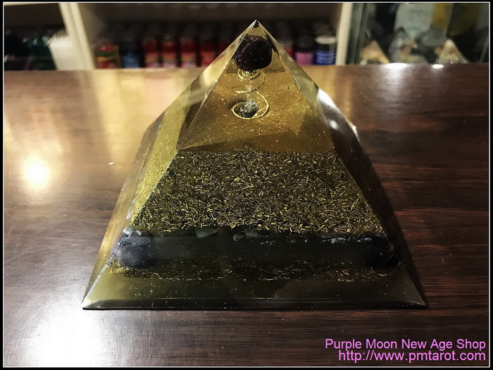 Avalon Magick x Oplusnet - Garnets High Quality Orgonite Pyramid
