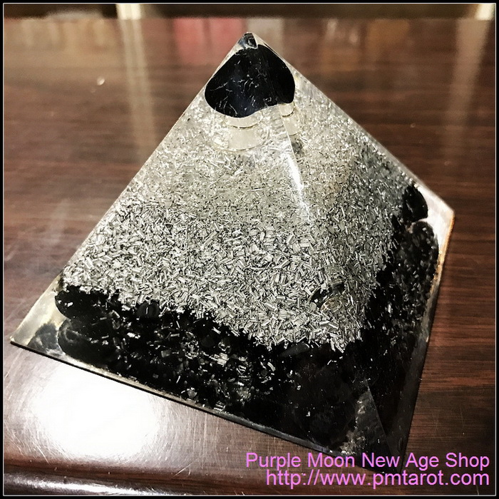 Avalon Magick x Oplusnet Orgone Pyramid -  Black Onyx High Quality Orgonite Pyramid