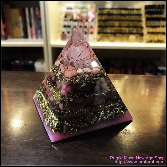 Avalon Magick x Oplusnet - Rose Quartz High Quality Orgonite Pyramid