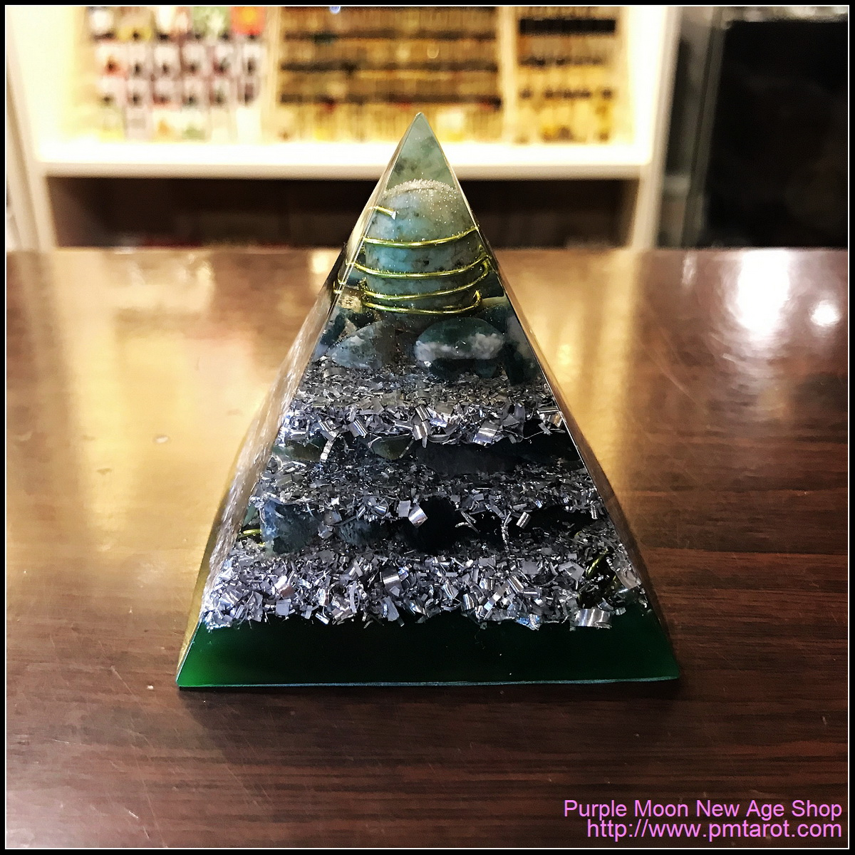 Avalon Magick x Oplusnet - Turquoise High Quality Orgonite Pyramid