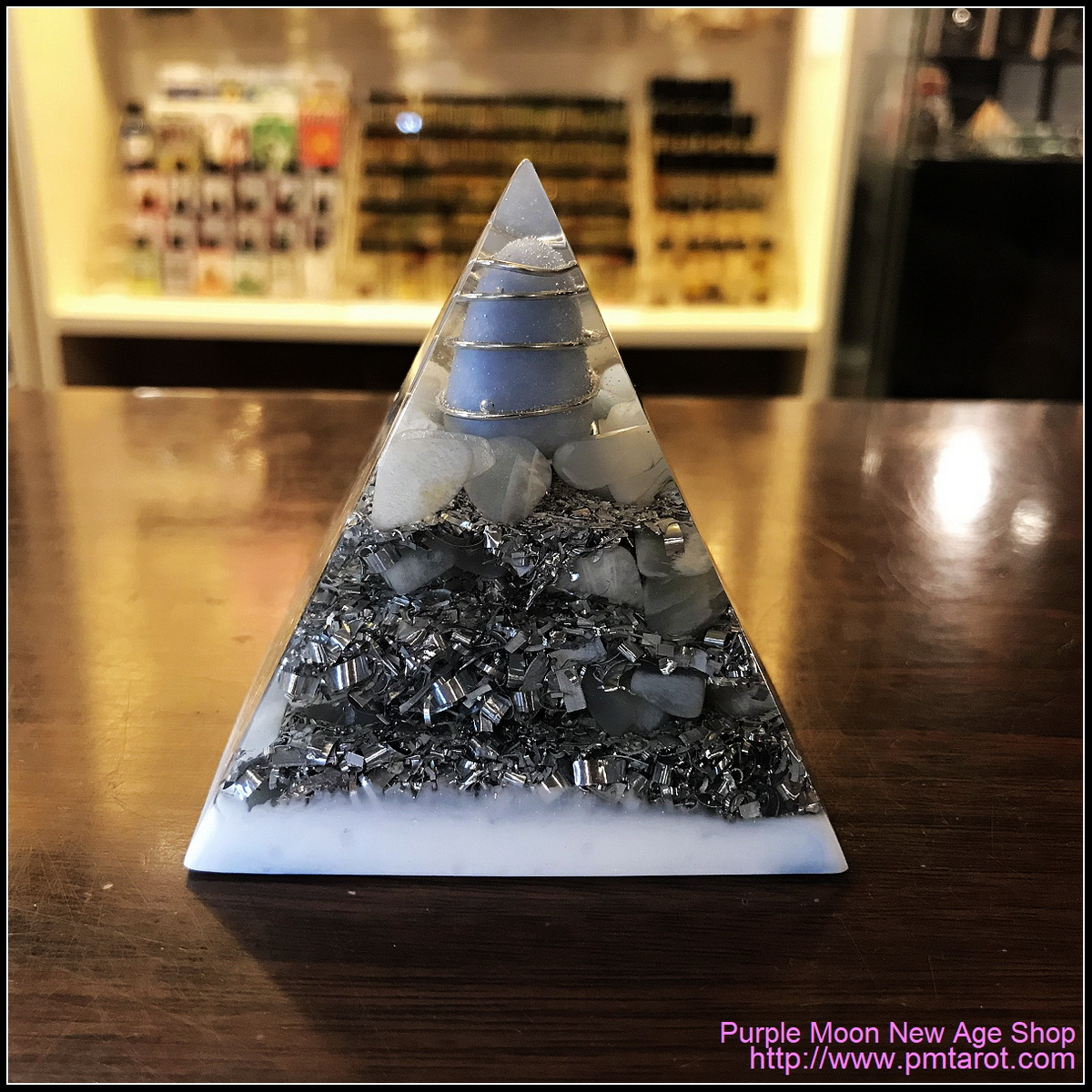 Avalon Magick x Oplusnet - Angelite High Quality Orgonite Pyramid