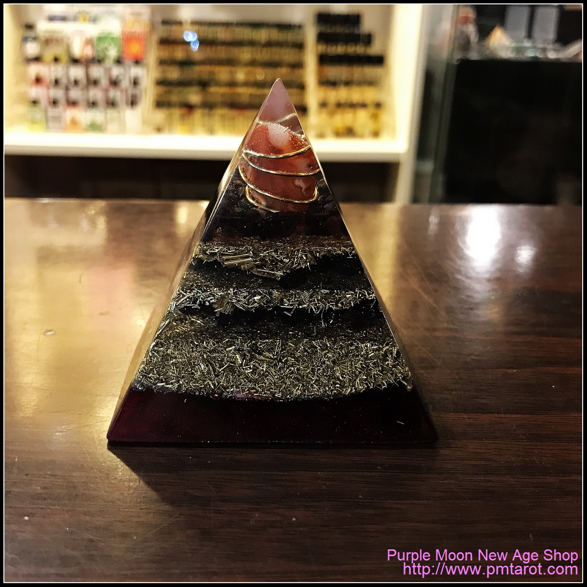 Avalon Magick x Oplusnet - Carnelian High Quality Orgonite Pyramid