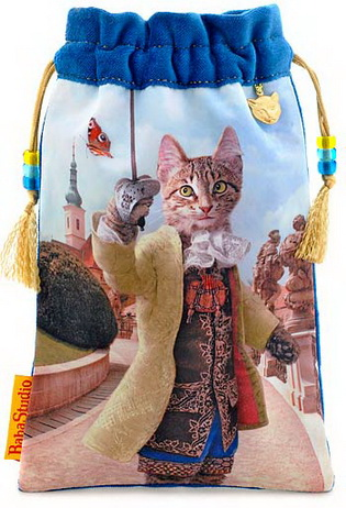 The Brave Tabby - limited edition Baroque Bohemian Cats bag