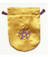 Pentagram in Circle Tarot Bag