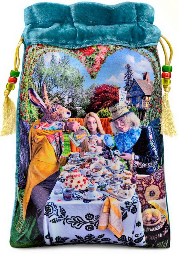 Alice and the Tea Party in teal - limited edition Alice Tarot bag