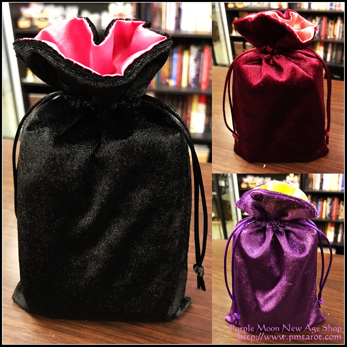 Satin and Velvet Tarot Bag