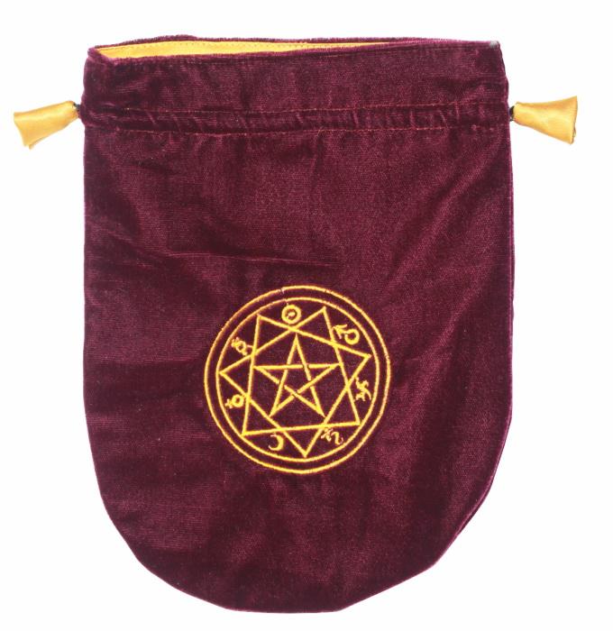 Sigillum Circle Velvet Tarot Bag