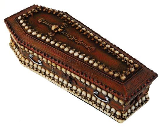 Skull Coffin Box