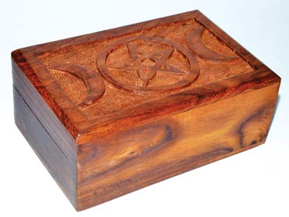 Triple Moon Pentagram Box