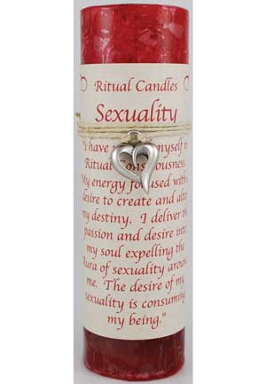 Sexuality Pillar Candle with Ritual Necklace
