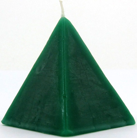 Cherry Scented Pyramid Ritual Scented Candle - Green