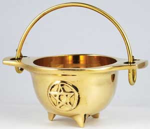Pentacle Brass Cauldron