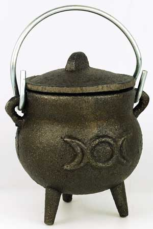 Triple Moon Cast Iron Cauldron