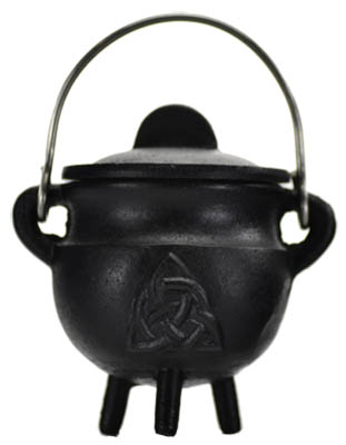 Triquetra Cast Iron Cauldron w/Lid