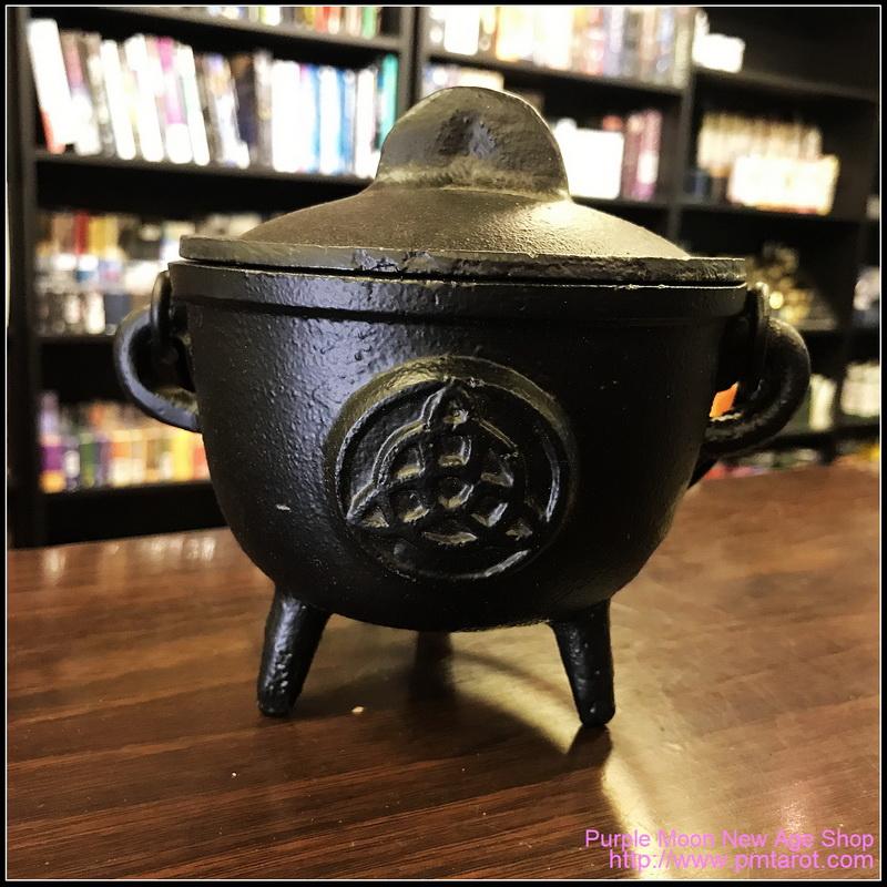 Triquetra Cast Iron Cauldron w/Lid