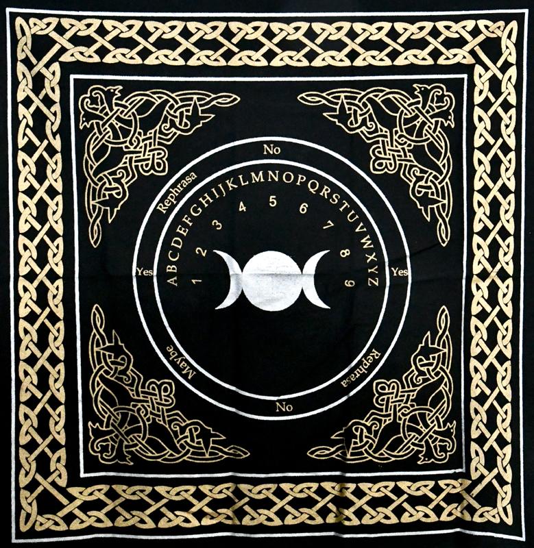 Triple Moon Pendulum/ Ouija altar cloth