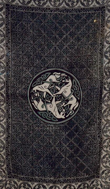 Celtic Horse green/white/black Tapestry (60x90)