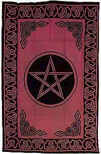 Pentagram Red & Black Tapestry (72x108)