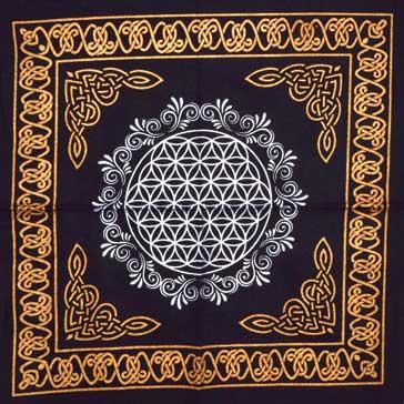 Flower Of Life Altar Cloth (18x18)