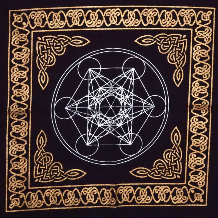 Metatrons Cube Altar Cloth (18x18)