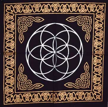 Seed of Life Altar Cloth (18x18)