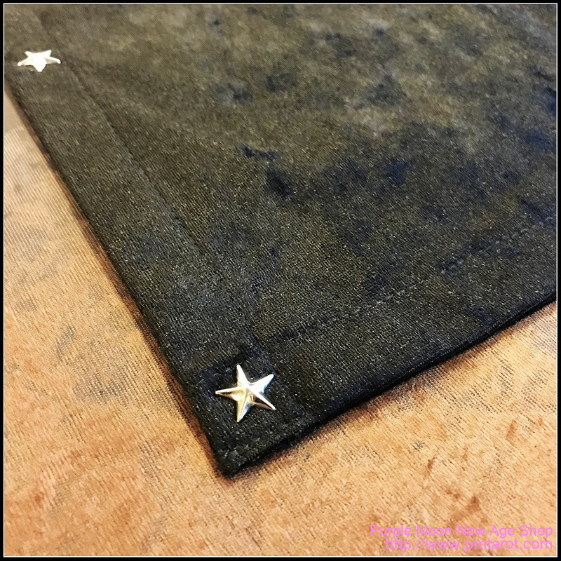 Black Tarot Cloth w/star edging