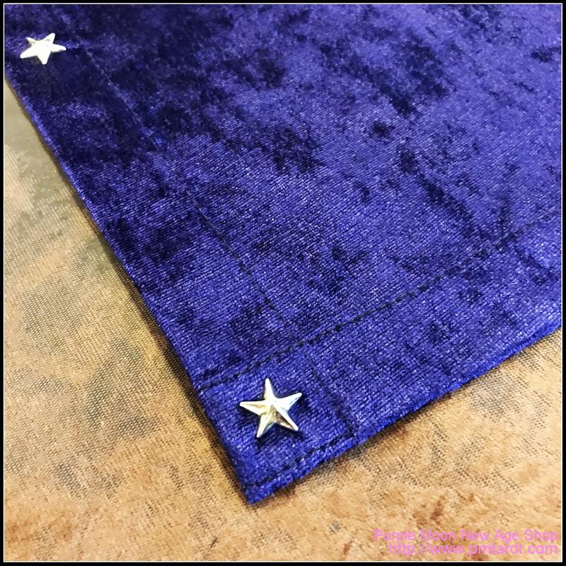 Purple Tarot Cloth w/star edging