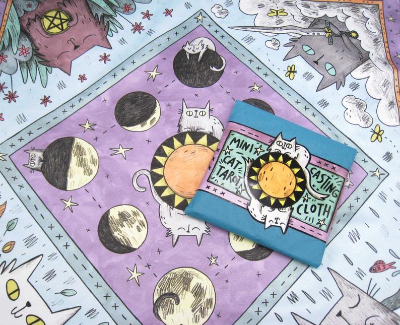 Mini Cat Tarot Cloth
