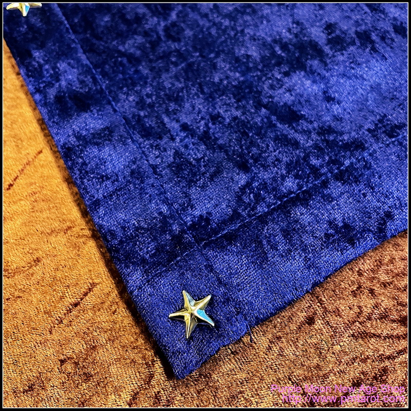 Dark Purple Tarot Cloth w/star edging