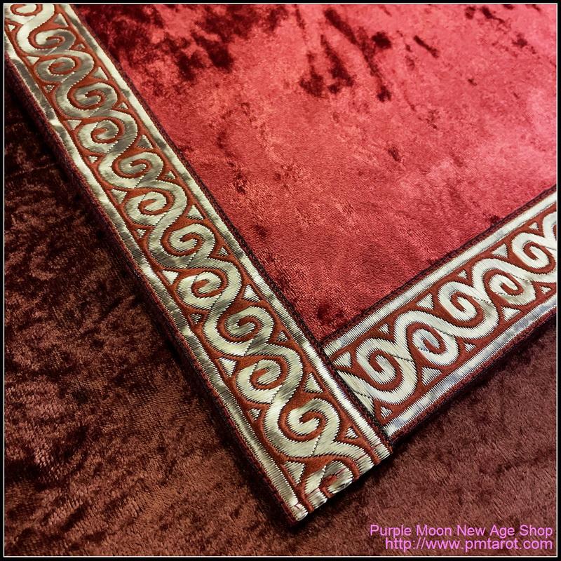 Red Petal Tarot Cloth