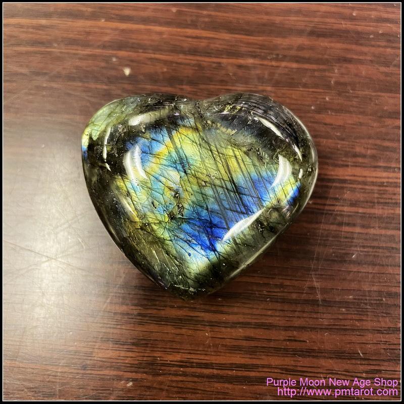 拉長石心形水晶石