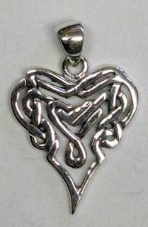 Sterling Silver Celtic Heart