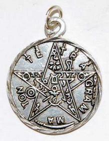 Small Pewter Tetragrammaton Pendant