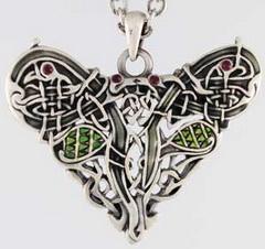 Celtic Dragon Heart Pendant