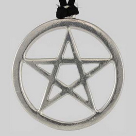 Large Pewter Pentagram Pendant