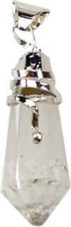 Faceted Clear Quartz Spiral pendant
