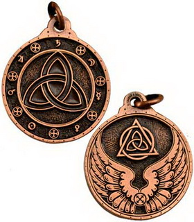 Triquetra Talisman Copper Color