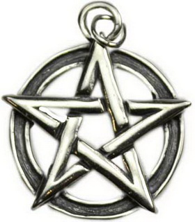 Sterling Silver Pentacle Pendant Large
