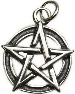 Sterling Silver Pentacle Pendant Small