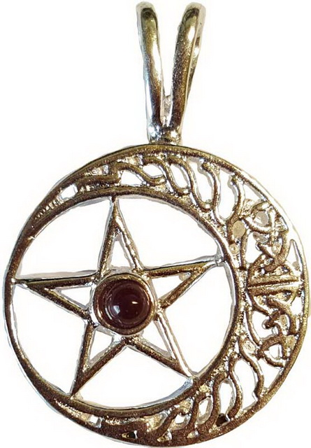 Celtic Pentagram Moon