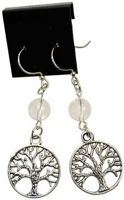 Quartz Tree of Life Earrings