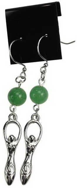 Green Aventurine Goddess Earrings