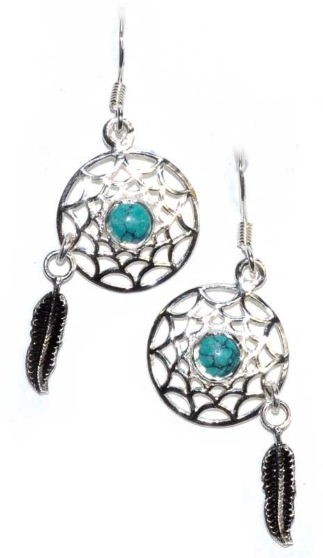 Dreamcatcher Turquoise Earrings