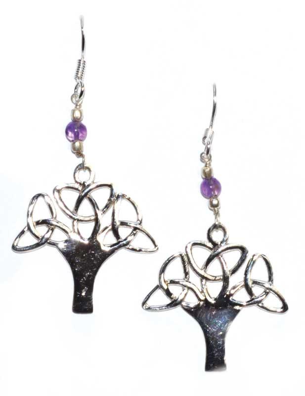 Tree Amethyst Earrings