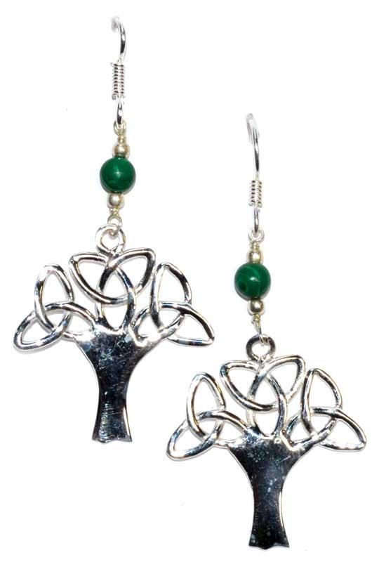 Tree Malachite Earrings