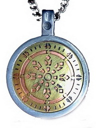 Wheel of Law Talisman For Health, Wealth and Happiness