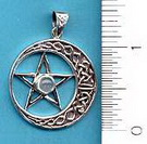 Pentacle: Celtic Moon & Moonstone