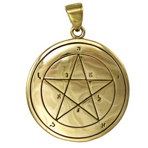 Bronze First Pentacle of Mercury Key of Solomon Pendant